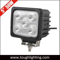 """Lampada da lavoro a LED da 5"""" da 50 W impermeabile IP68 con luce spot/proiettore quadrata Per macchinari per l'agricoltura e l'industria mineraria pesante"""