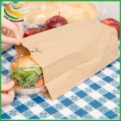 """Sacos de papel Kraft de 11 X 6 X 3.5"""" 6 Lb Mercearia durável Comercial de Retalho de almoço branqueados Saco do Canhão"""