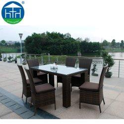 Nuevo juego de muebles de mimbre sillas y mesas de comedor Jardín Patio configuración
