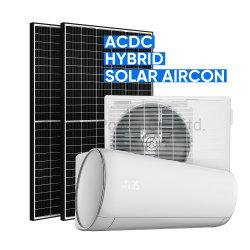 냉각하고 가열하는 Climatiseur Solaire 태양 에너지 에어 컨디셔너 2HP 1.5 톤 18000BTU 100% PV 직접 에너지 HVAC 잘 고정된 시스템