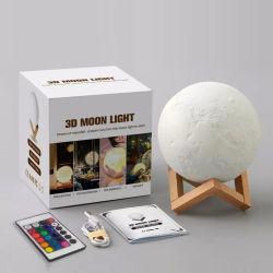 Impresión 3D de Moonlight LED linterna eléctrica Sol Luna Lámpara de iluminación