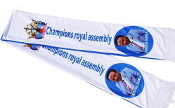 安いキャンペーンの選挙 Scarf の卸し売り注文の印刷物、 Scarf の選挙
