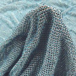 Hotfix Rhinestone сетки, серебристая Sequin Голубой Rhinestone Crystal
