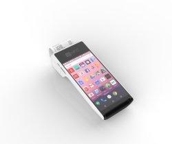 Android Market telemóvel com leitor de códigos de barras em um só sistema POS com impressora e impressões digitais PT50