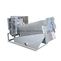 El tornillo de prensa de filtro tipo de apilado automático Máquina de deshidratación de lodos