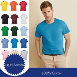 Aangepast Embleem 100% T-shirt van de Kleding van de kort-Koker van de Kleren van de Levering van de Katoenen OEM Dienst de Snelle Goedkope In het groot