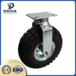 8 Zoll-aufblasbares Gummischwenker-Befestigungsteil-Fußrollen-Rad