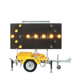 G040406 l'autoroute Message Board grossiste LED montés sur remorque d'avertissement de trafic flèche directionnelle de signer la lumière