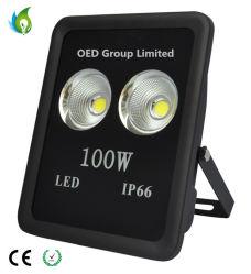 Caja negra IP66 Uso exterior Reflectores LED 100W con aleación de aluminio