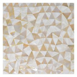 Blanc brillant de Nacre Seamless Cheap Shell mosaïque naturelle