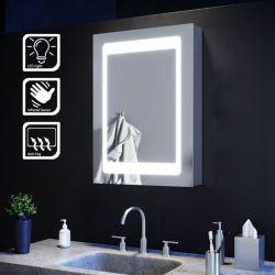 Cuarto de baño sanitario aprobado por UL decorativos de maquillaje en la pared de la vanidad de aluminio superior Botiquín con iluminación LED