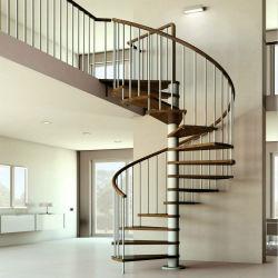 Современный стильный деревянный шаги Stairase из нержавеющей стали деревянные лестницы спирали