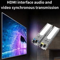 고품질 장거리 전송 4K KVM USB HDMI Extender over 파이버 10km