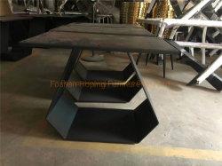 Mobilia stabilita dell'ultimo di disegno della Tabella pranzante di vendita del metallo della parte superiore di memoria di disegno tavolino da salotto caldo del salone