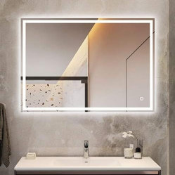 مرآة ماكياج مضاءة، مرآة LED مرآة مرآة الزينة، مرآة الحمام المدمجة المضاءة