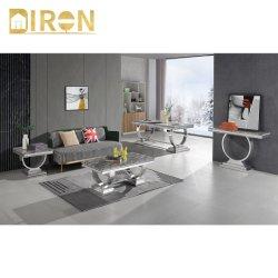 Цвет Optionable обеденный стол из нержавеющей стали мраморными верхней части прямоугольник кофейный столик