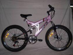Populares MTB Doble Suspension bicicleta de montaña para dama (SH-SMTB012)