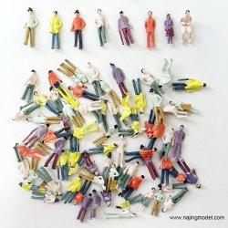 Gemalte Modell Menschen G Maßstab 1: 25 gemalte sitzende Leute sitzende Modell Figuren