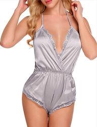 Мода белье Hot Girl Sexy кружевной глубокий V искушение молодых леди цельный нижнее белье