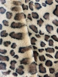 Женщин зимние фантазии непринужденной элегантной коричневого цвета считает плоский - верхней части Red Hat пушистый 1000g Leopard Анголе кролик мех шикарные Red Hat с Private Label ткань