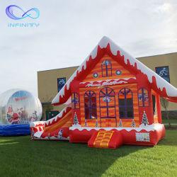 Для использования вне помещений надувные Combo Bouncer с ударным детский надувной замок прыжком упругие дом Bouncer слайд на Рождество