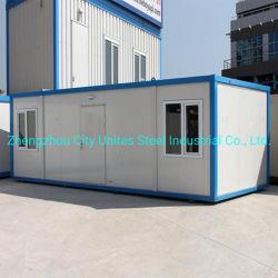 Low Cost 20pés dobráveis prefabricados moderna estância de contentores móveis