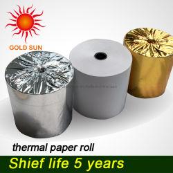 Le papier des étiquettes Rouleau de papier thermique thermique d'impression de haute qualité sensible du papier de caisse enregistreuse