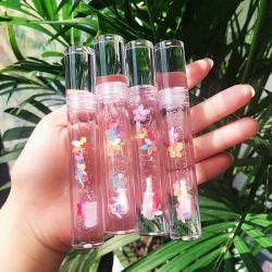Etiqueta privada mayorista proveedor Lipgloss granel Cute Kids Flor Natural claro Lip Gloss