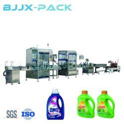 Botella plana botella Pet Gel de ducha de llenado de líquido de alta viscosidad de la máquina de embalaje