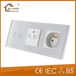 أوروبا 2g 2A USB مقبس مفتاح حائطي كهربائي النوع الفرنسي