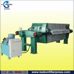 Pequeño manual de la industria hidráulica y el marco de la placa de prensa de filtro para la deshidratación de lodos