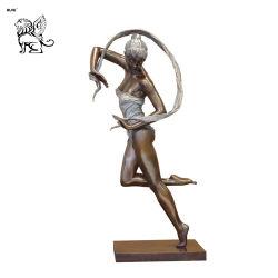 Fabrik-Lieferanten-Kunst-Bronzen-Statue-moderner Künstler-Kreations-Tänzer-Bronzeskulptur Bfsy-110