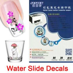 Autocollants ongles autocollants de la diapositive de l'eau pour la céramique de verre tasse en plastique
