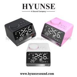 Mini altoparlante della sveglia senza fili domestica astuta di Bluetooth