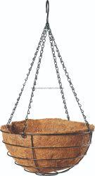 Les fleurs du fil de fer Coco Hanging Basket avec chemise et la chaîne pour la plantation de fleurs (BH090023)