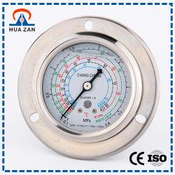 Agua / Manómetro de Aire Proveedor de Múltiples Funciones Indicador de Presión con Rellenos de Aceite