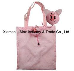 Sac shopping pliable de promotion, Style de cochon d'animaux, réutilisable, léger, cadeaux, accessoires et décoration, sacs d'épicerie