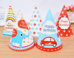 Triángulo OEM Cumpleaños Hat y tapa de papel para regalo promocional