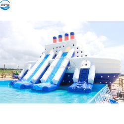 13x6.5m bateau de luxe thème utilisé la piscine gonflable Diapositive