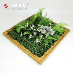 Extraíble de bricolaje personalizados Anti-UV Plantas artificiales el marco de fotos