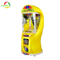 소형 견면 벨벳 최고 상자 2 장난감 사탕 전자 아케이드 게임 기계를 Vending 최고 클로 기중기