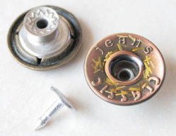 Mango de latón Jeans pantalones pantalones de aleación de hierro de la chaqueta metálica clavijas encajen Denim Tuck de prendas de vestir los botones de accesorios (B279)