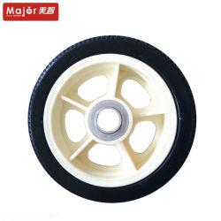 6.5X2 La mousse de polyuréthane roue libre avec des pneus à plat en plastique pour bébé poussette charrettes de RIM