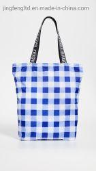 2019 nouvellement Square pattern quotidien en nylon emporter Shopping sac fourre-tout