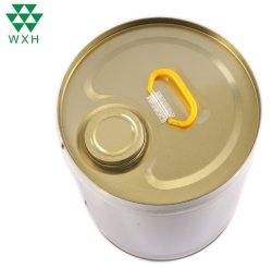 18L étain benne ronde l'huile moteur du tambour avec les couvercles de plastique/métal