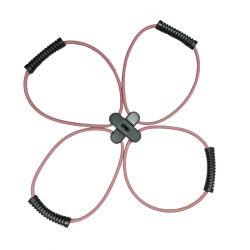 Bouton ABS Nouvelle Structure de l'exercice de la résistance de la bande élastique en Latex tube