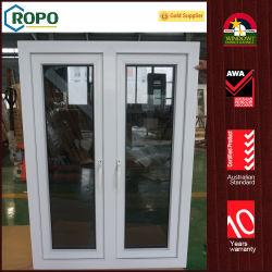 نوافذ ذات تأثير الزجاج الملون الداكن PVC، تأثير إطار الكاسفة المزدوجة