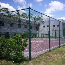 De Omheiningen van het Netwerk van de Draad van de Link van de Ketting van het roestvrij staal voor Tennisbaan en Weide