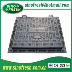 ねじまたは合成の樹脂のフレームが付いている延性がある鉄の円形の正方形のステンレス鋼の鋳造のマンホールカバーが付いている高いQualit En124 A15 B125 C250 D400 E600のマンホールカバー