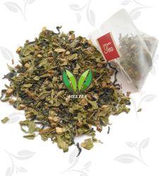 Tadellose grüner Tee Soem-dreieckige Pyramide-Teebeutel